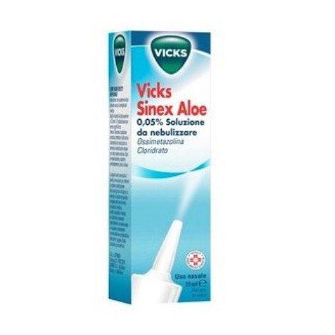Vicks Sinex Aloe Nebulizzatore per il raffreddore 15ml 0,05%