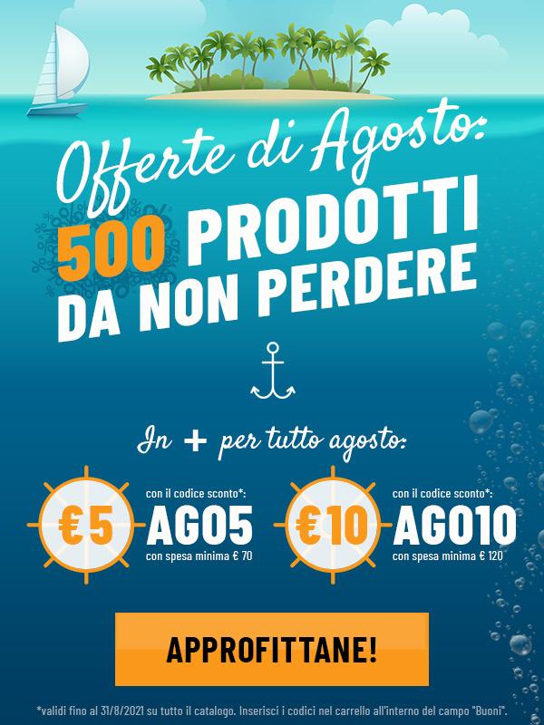 Offerte di agosto: 500 prodotti da non perdere!