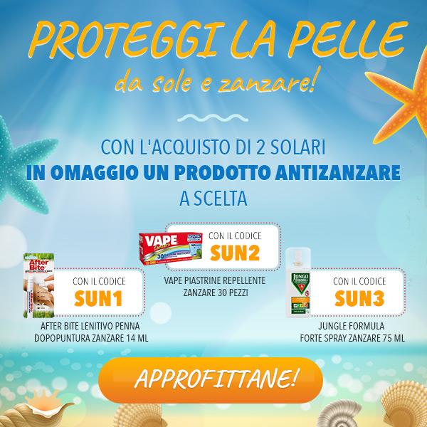 Proteggi la pelle da sole e zanzare!