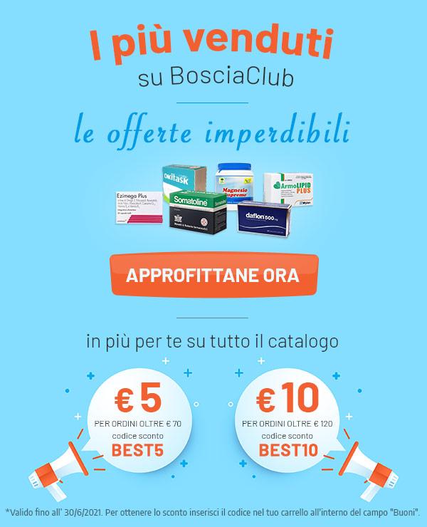 I più venduti su BosciaClub: le offerte imperdibili